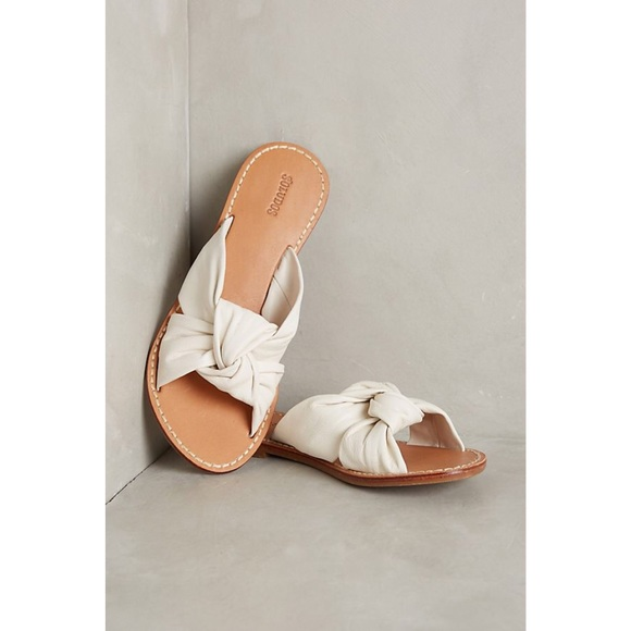 6786c69e2926 Soludos Leather Knotted Slide Sandals